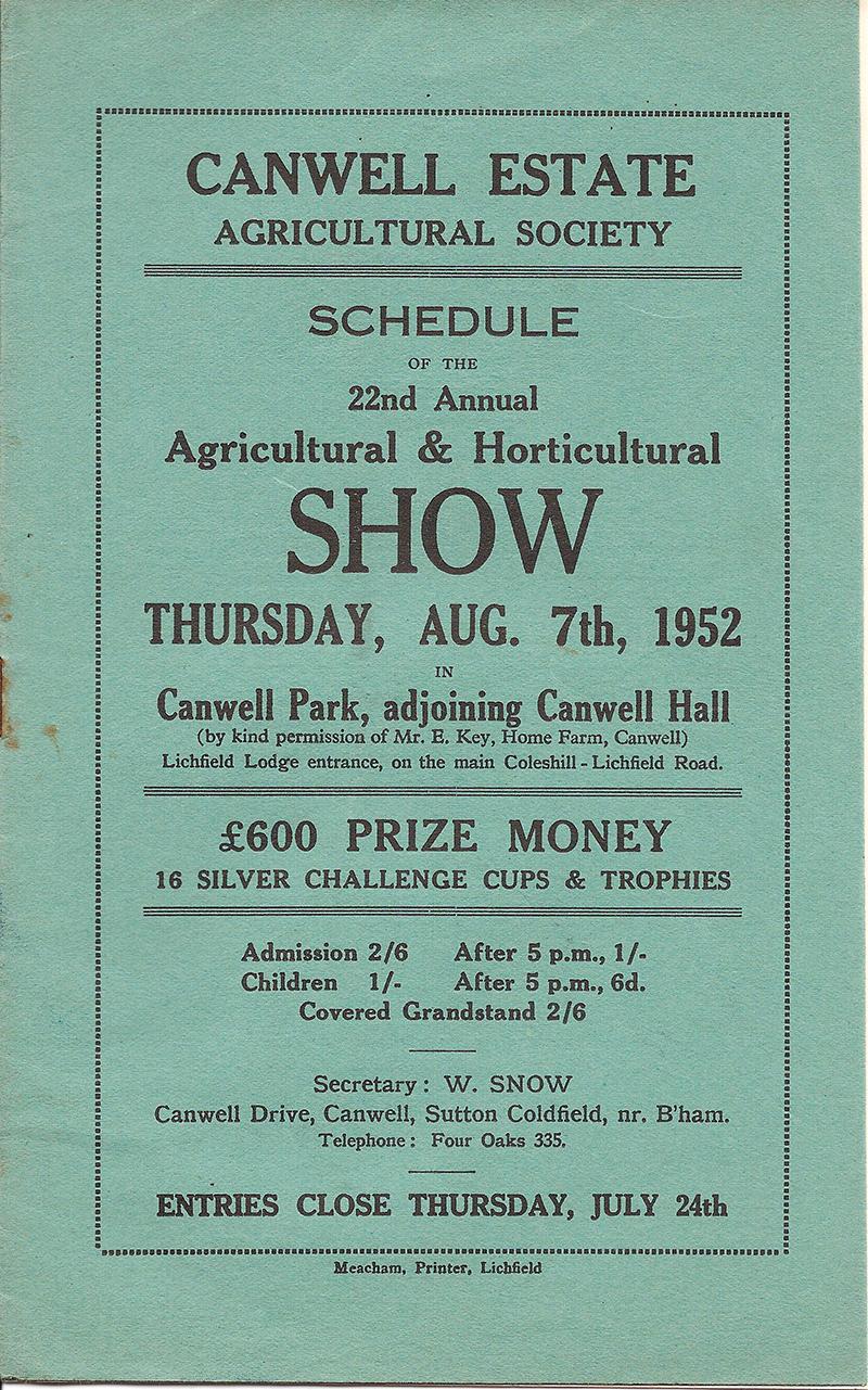 1952 Schedule